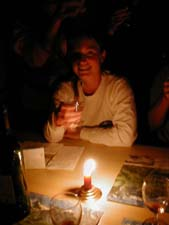 Lauren by candlelight