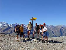 Group on Schwalmere Pass