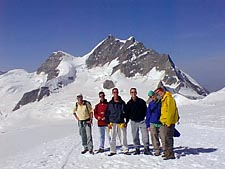 Group in front of Jungfrau
