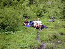 Resting on the way to Oeschinensee