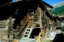Traditional barnhouse in Zermatt